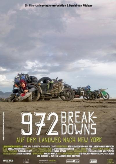 Plakat: 972 Breakdowns - Auf dem Landweg nach New York