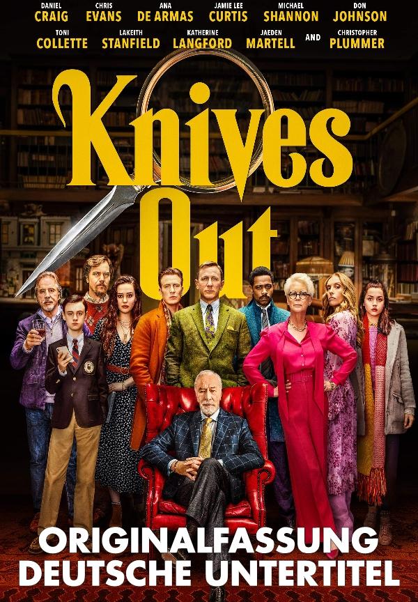Plakat: Knives Out - Original-Fassung Deutsche Ut.